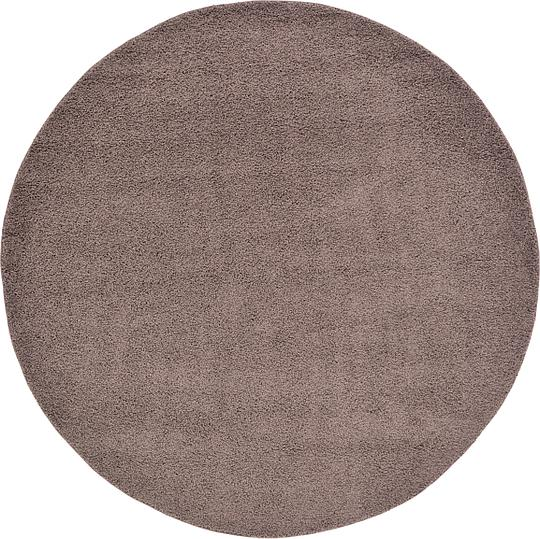 Brown 8 X 8 Solid Frieze Round Rug Area Rugs Esalerugs