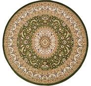 Link to 9' 10 x 9' 10 Mashad Design Round Rug