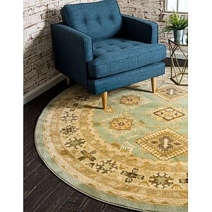 Unique Loom 8' x 8' Sahand Round Rug