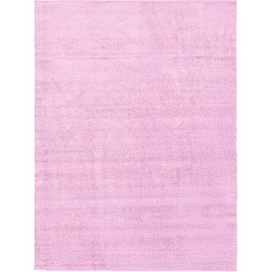 10×13 Pink Solid Frieze  Rugs