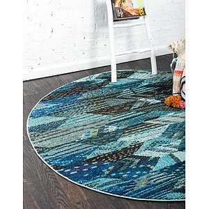 Unique Loom 8' x 8' Sedona Round Rug