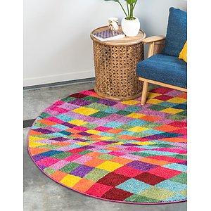 Unique Loom 8' x 8' Estrella Round Rug