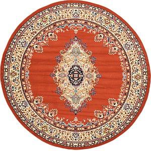 245cm x 245cm Mashad Design Round Rug