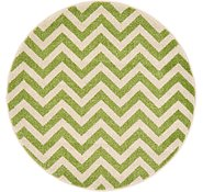 Link to 3' 3 x 3' 3 Chevron Round Rug