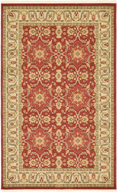 Red 5 X 8 Kensington Rug Area Rugs Esalerugs