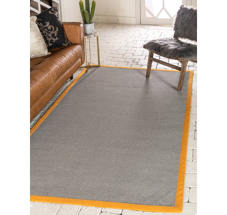 Light Slate Gray Sisal Rug