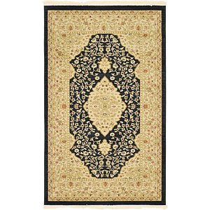 3x5 Black Kensington  Rugs