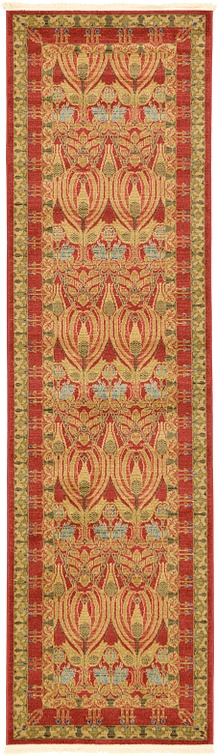 Red  2' 7 x 10' Kensington Runner