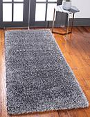 2' 7 x 6' Luxury Solid Shag Runner Rug thumbnail image 1