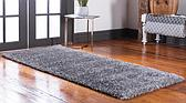 2' 7 x 6' Luxury Solid Shag Runner Rug thumbnail image 2