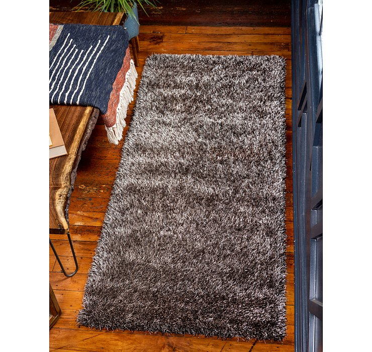 2' 7 x 6' Luxe Solid Shag Runner ...