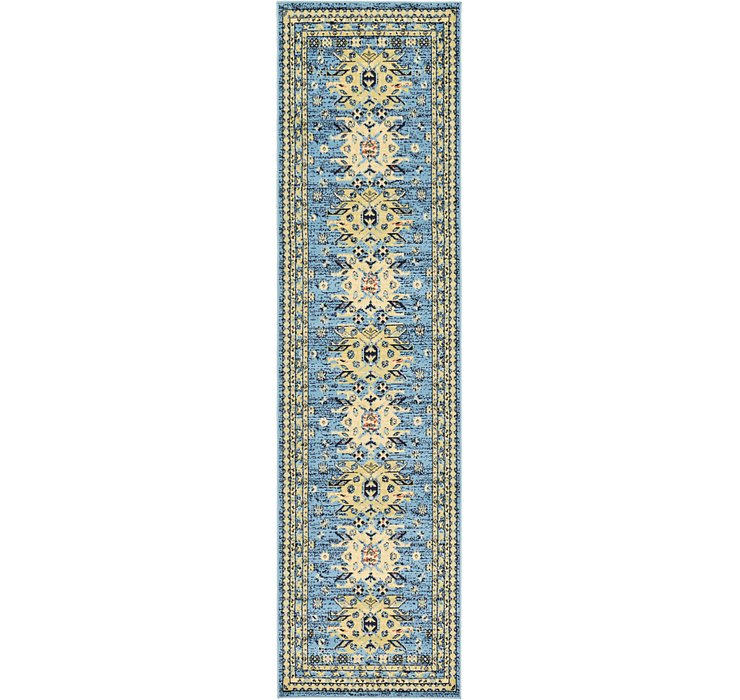 2' 7 x 10' Heriz Design Runner Rug