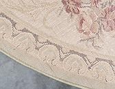 8' x 8' Classic Aubusson Round Rug thumbnail image 9