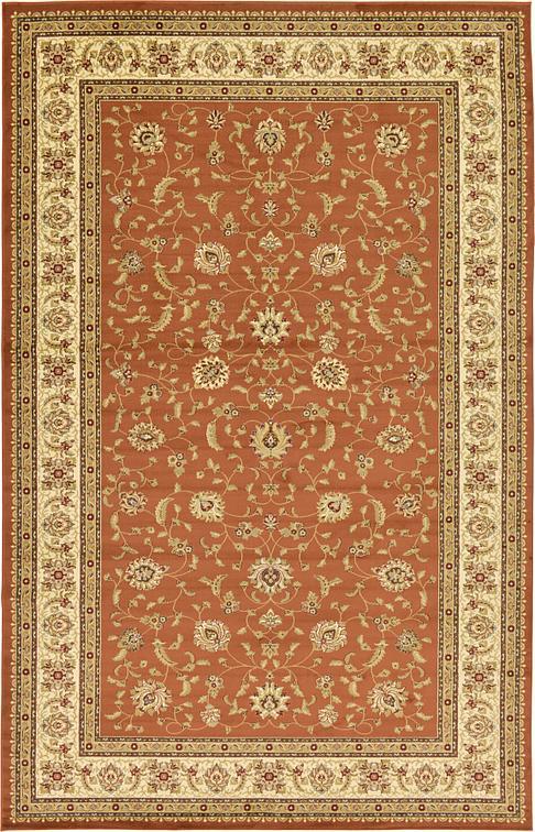 Brick Red 320cm X 500cm Classic Agra Rug Area Rugs Au Rugs