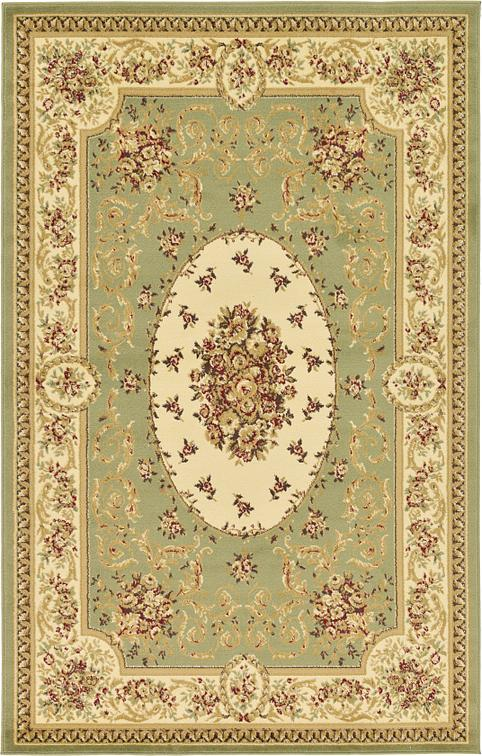 Green 5 X 8 Classic Aubusson Rug Area Rugs Esalerugs