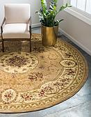 6' x 6' Classic Aubusson Round Rug thumbnail image 1