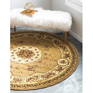 Unique Loom 6' x 6' Versailles Round Rug