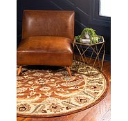 Link to 183cm x 183cm Classic Agra Round Rug