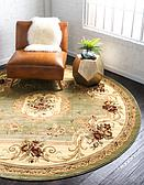 8' x 8' Classic Aubusson Round Rug thumbnail image 10