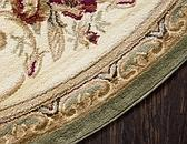 8' x 8' Classic Aubusson Round Rug thumbnail image 15