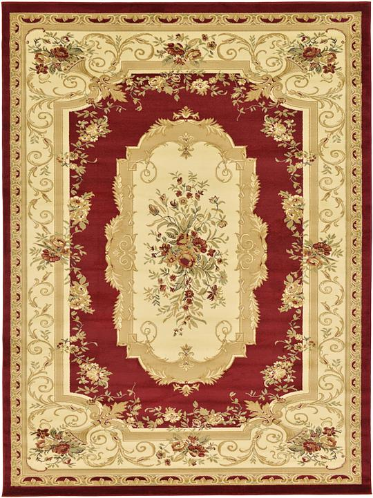 Red 9 X 12 Classic Aubusson Rug Area Rugs Esalerugs