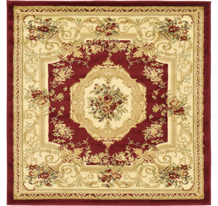 Red Chateau Square Rug