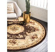 Link to 245cm x 245cm Classic Aubusson Round Rug