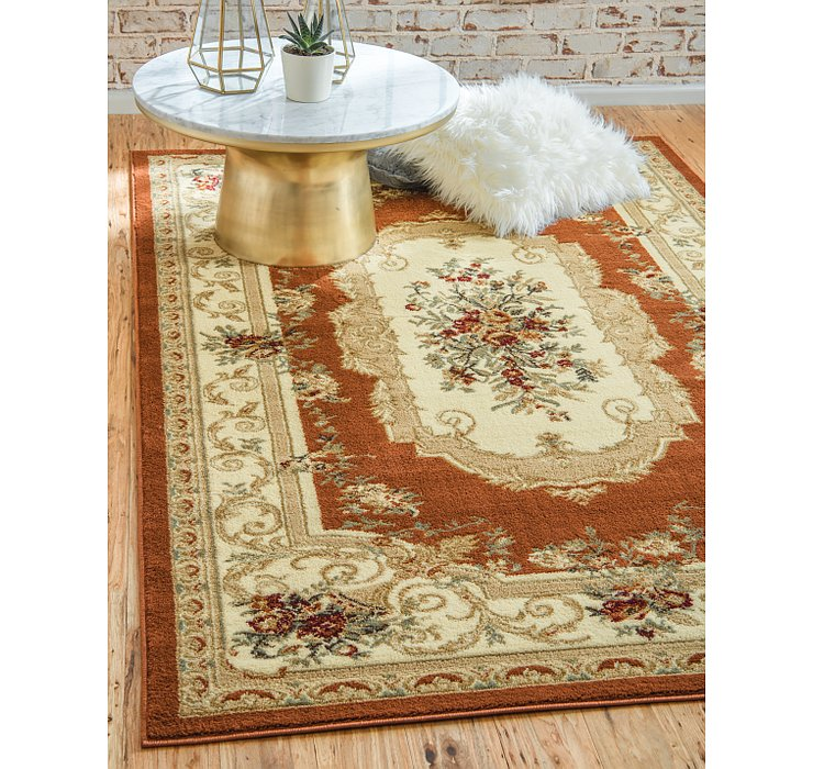 Brick Red Chateau Rug