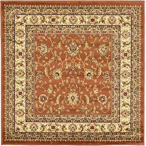 4' x 4' Classic Agra Square Rug