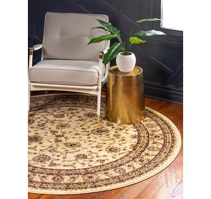 183cm x 183cm Classic Agra Round Rug