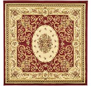 Link to 122cm x 122cm Classic Aubusson Square Rug