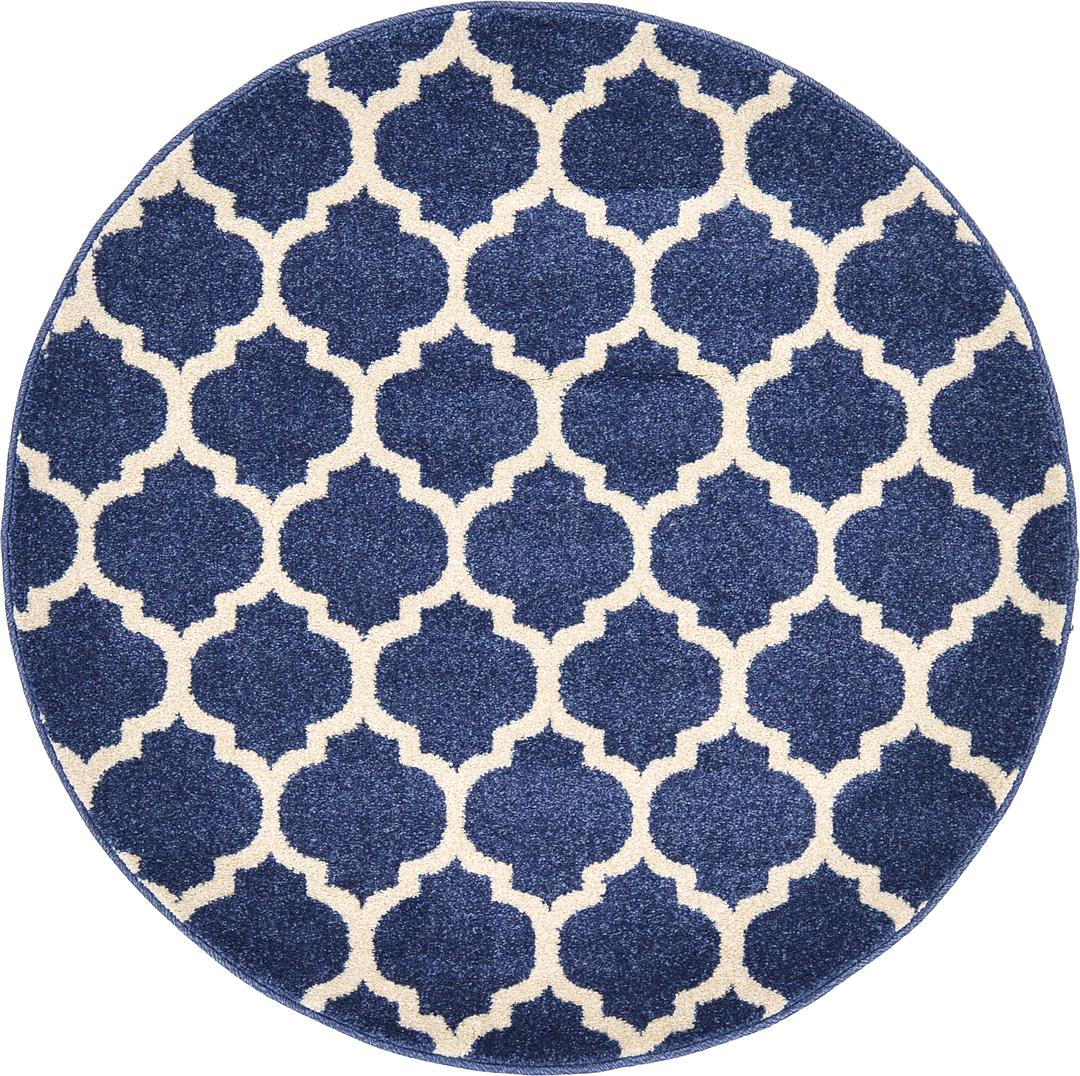Blue Circular Rug Home Decor