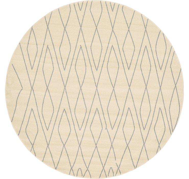 Ivory Titania Round Rug