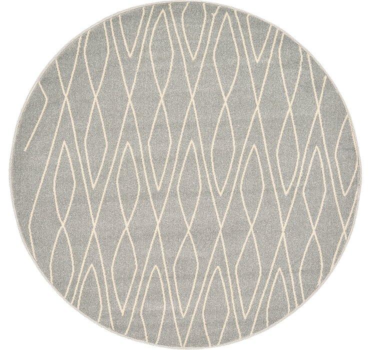 Gray Titania Round Rug