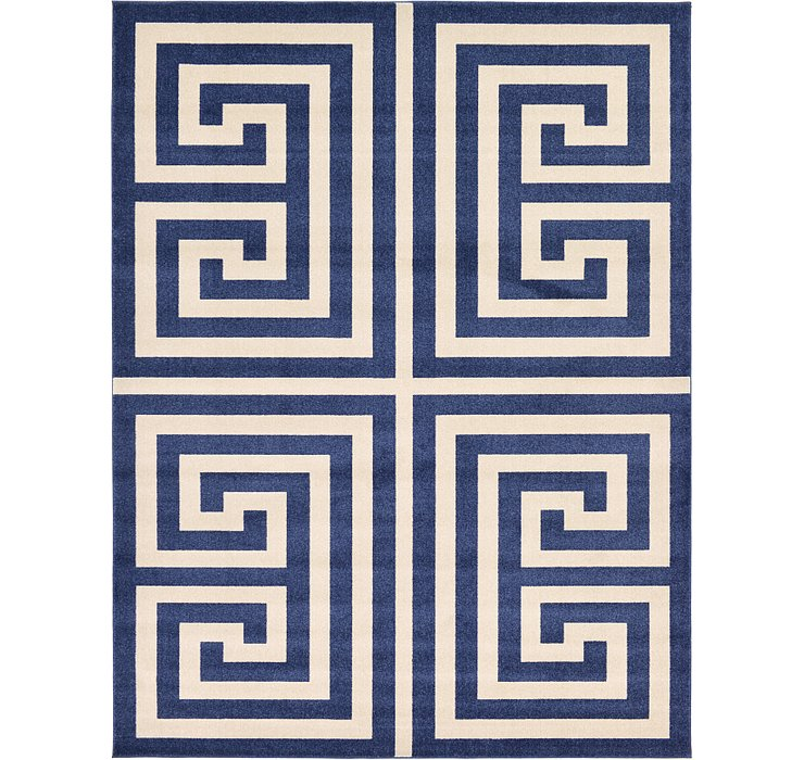 9' x 12' Greek Key Rug