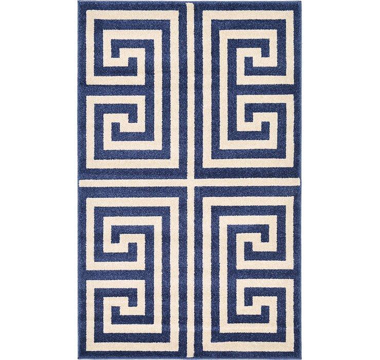 3' 3 x 5' 3 Greek Key Rug