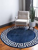 6' x 6' Greek Key Round Rug thumbnail