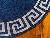 6' x 6' Greek Key Round Rug thumbnail image 8
