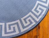 6' x 6' Greek Key Round Rug thumbnail image 9