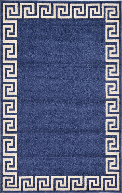 Navy Blue 5 X 8 Greek Key Rug Area Rugs Rugs Ca