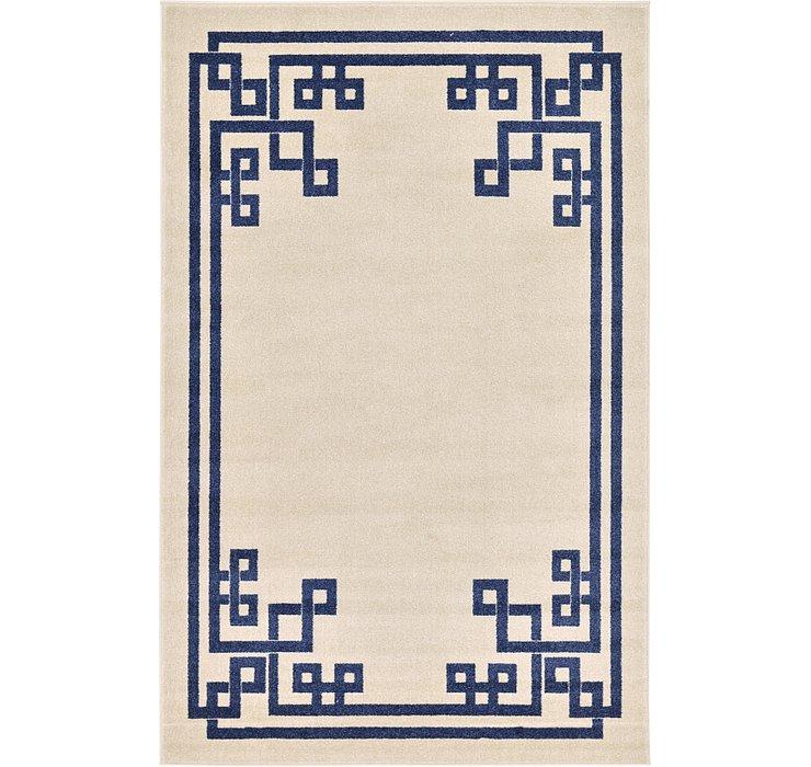 5' x 8' Greek Key Rug