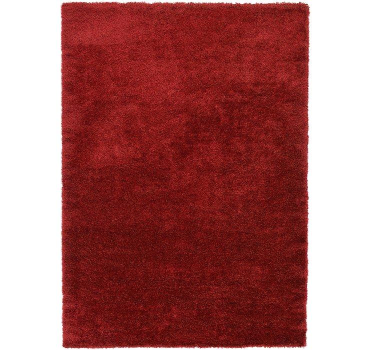 Red Luxury Solid Shag Rug