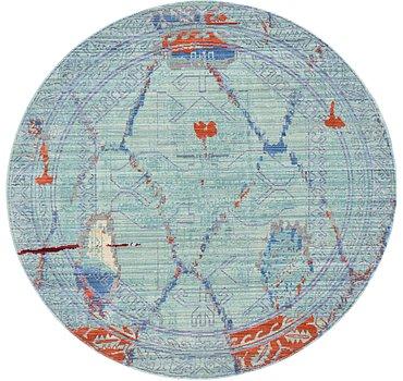 185x185 Aqua Rug