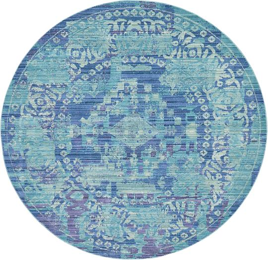 Aqua Round Rug Rugs Ideas