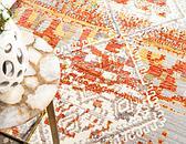 6' x 6' Aqua Round Rug thumbnail image 5