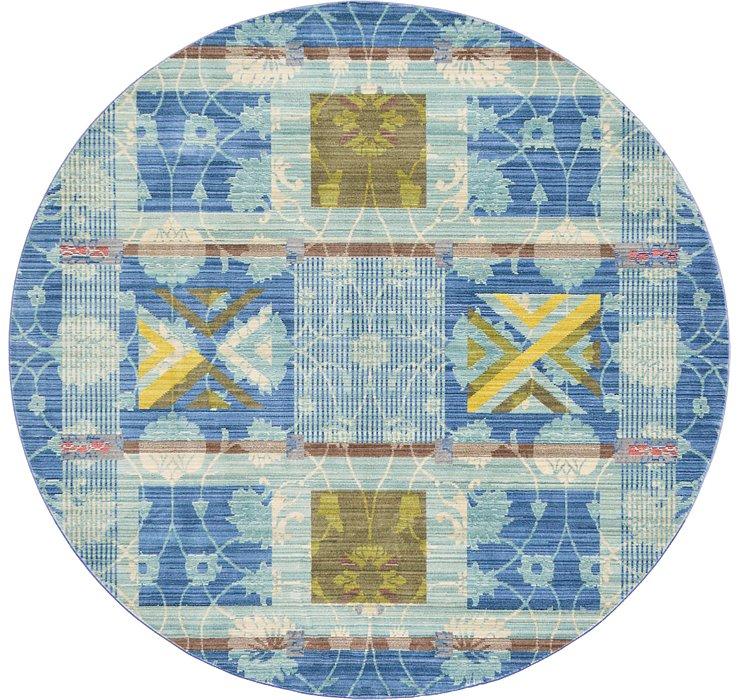 183cm x 183cm Aqua Round Rug