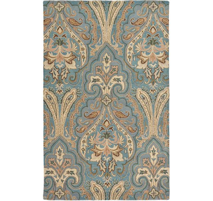 Blue Floral Agra Rug