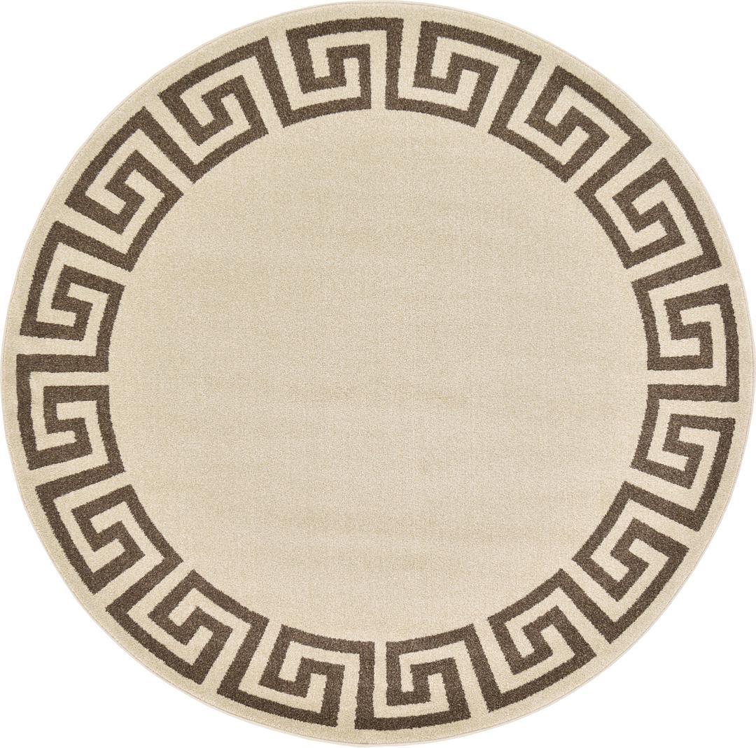 6 X Greek Key Round Rug
