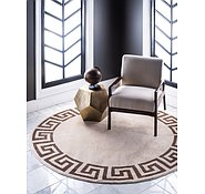 Link to 245cm x 245cm Greek Key Round Rug