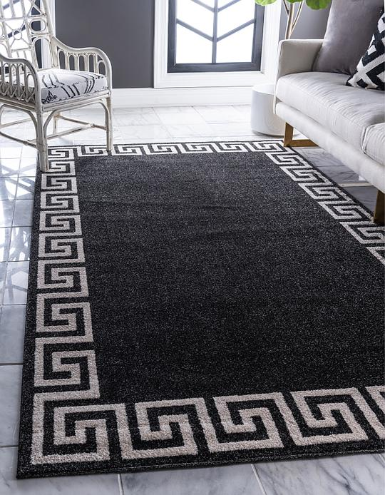 Charcoal 5 X 8 Greek Key Rug Area Rugs Esalerugs
